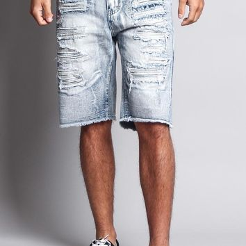 Men's Faded Distressed Shorts DS751 - F18C