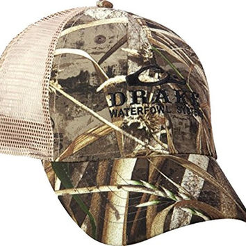 8fb24f12a36 Drake Waterfowl Meshback Mossy Oak Camo Adjustable Hat