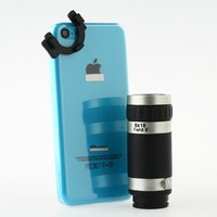 [Aftermarket Product] 8x Zoom Optical Telescope Camera Lens+Clear Case Cover Photo Set For iPhone 5C