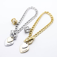 Sweet Heart chain bracelet (2 colors)