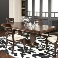 American Drew Miramar Pedestal Dining Table in Auburn on Prima Vera