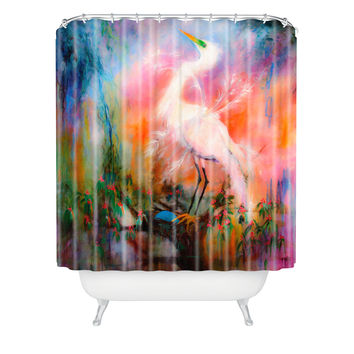 Ginette Fine Art Egret Dreams Shower Curtain