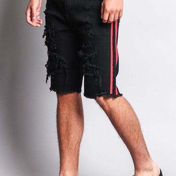 Men's Distressed Tape Shorts DS2025 - O1G