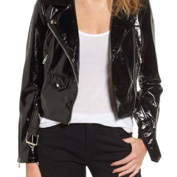 Vigoss Faux Patent Leather Biker Jacket | Nordstrom