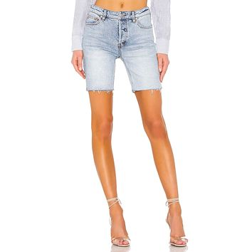 Free People Avery Bermuda Shorts Denim Blue