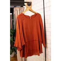 Sunset Layered Top, Rust | Plus Size
