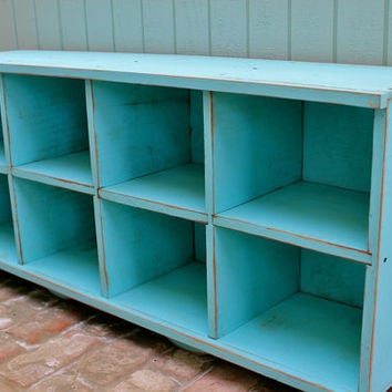 Wood Storage Bench - Furniture - Entryway - Hall - Shoe Storage - Toys - Cubbies - Cubbyholes