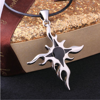 Jewelry New Arrival Stylish Gift Shiny Korean Accessory Cross Rack Pendant Knife Men Necklace [6526589187]