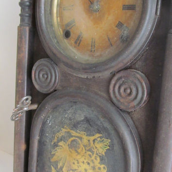 Rare 1866 Antique Mantle Clock N. Pomeroy Bristol Connecticut 8 day Clock Beehive Mantel Clock Antique Shelf Clock Victorian Antique Clock
