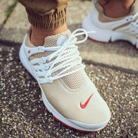 NIKE AIR Presto Khaki White Net Small Red Hook Fashion Men Running Sport Casual Cushion Shoes Sneakers G-AA-SDDSL-KHZHXMKH