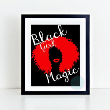 PRINTABLE ART Afrocentric Artwork African American Woman Poster Natural Hair Art Woman Of Color Gold Wall Hanging Hair Salon Art Black Hair