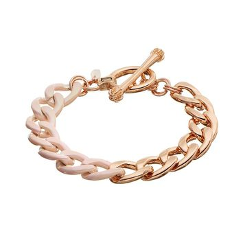 Juicy Couture Toggle Bracelet (Pink)
