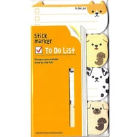 Adorable Puppy Dog Shaped Memo Post-it Sticky Note Pad | Cute Affordable Animal Themed Stationery