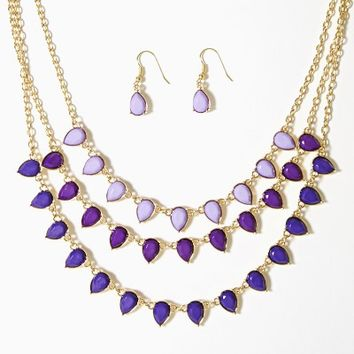Lorelei Ombré Teardrop Set | Necklaces | charming charlie