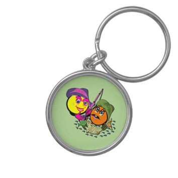 Smileys Fishing Couple Keychain