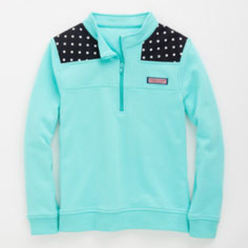 Girls Polka Dot Shoulder Shep Shirt