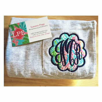 Monogrammed Lilly Pulitzer Scallop Pocket T-shirt