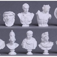 """MINI GREEK BUSTS SET"" - 10pcs"