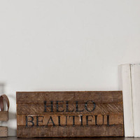 Hello Beautiful Small Wall Sign