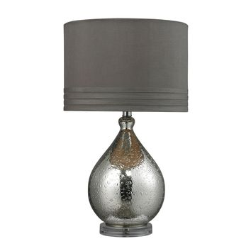 D252 Bubble Glass Table Lamp in Mercury Plate Finish
