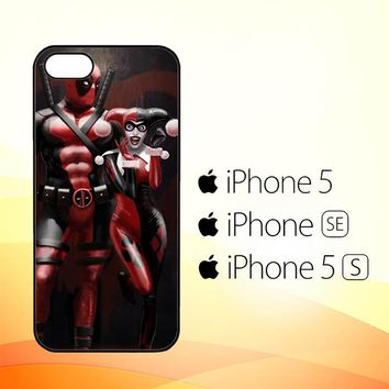 Harley Quinn and Deadpool Y1742  iPhone 5|5S|SE Case