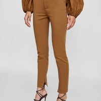 HIGH WAISTED CIGARETTE PANTS DETAILS