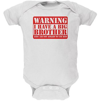 Warning Big Brother Soft Baby One Piece
