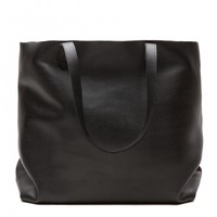 Classic Leather Tote (Short), Black | Details | Cuyana
