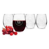 Cathy's Concepts Personalized Stemless Wine Glasses (Set of 4)