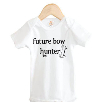 Future Bow Hunter baby shirt. Bow Hunting. Hunting baby Onesuit. Deer hunting baby Onesuit. country baby Onesuit