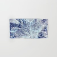 Winter pattern Hand & Bath Towel by Tanja Riedel