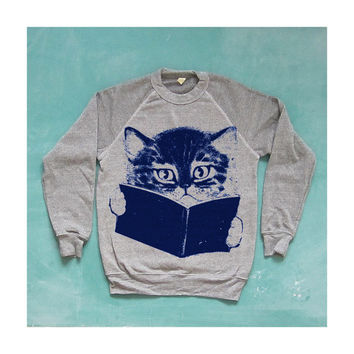 FURST EDITION sweater cat sweatshirt grey by kinshipgoods on Etsy
