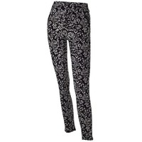 Jasmine Zip Pocket Leggings-Black and Cream Floral