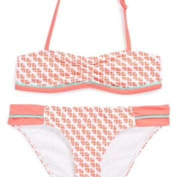 Tucker + Tate 'Tropical' Two-Piece Swimsuit (Big Girls)