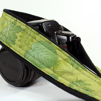 dSLR Camera Strap, Leaves, Green, Moss, SLR
