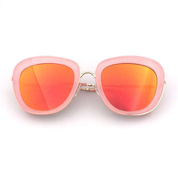 Fashion Strong Character Mirror Ladies Stylish Sunglasses [6592751171]