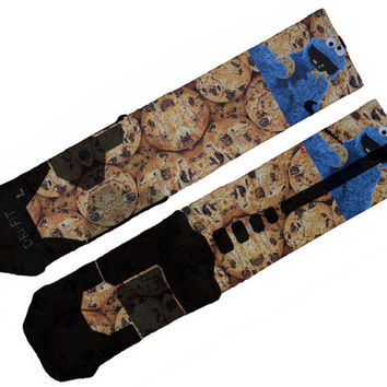 Cookie Monster Custom Nike Elite Socks