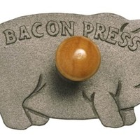 Norpro Cast Iron Pig Bacon Grill  Press