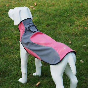 New Pet Clothes For Dog Waterproof And Warm Fleece Dogs Coat Jacket Outdoor Safety Raincoats With Reflective