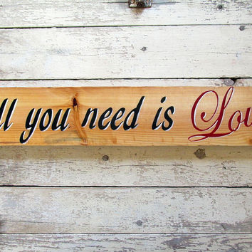 Rustic Quotes on Pallet Wood, Love Sign Saying, PS I Love You
