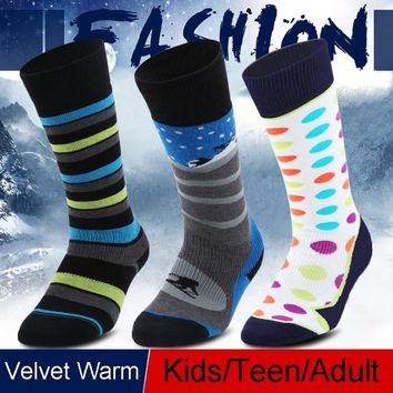 Winter Thermal Sport Mountain Snowboard Skiing Socks Hiking Men Women Knee Soccer Compression Stockings ice hockey kids