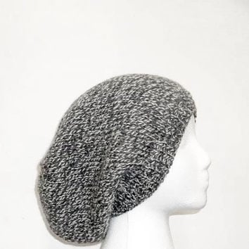 Grey Slouchy beanie Hat Wool Womens Hat Grey Knit Hat - Mens Grey Hat Grey Slouch Hat Fall Fashion Womens Accessories Winter Hat
