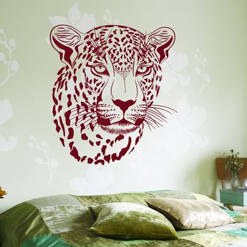 Wall Vinyl Decal Cheetha Leopard Cool Decor For Living Room Unique Gift z3671