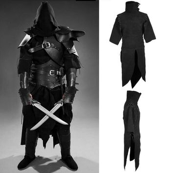 18th Century Men's Stand Collar Suede Warrior Clothing Medieval Clothing Fashion Dark Gothic Renaissance Cosplay Costume