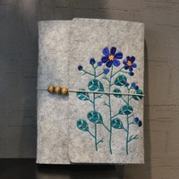 Handmade Flower Wool Felt Embroidery Notebook