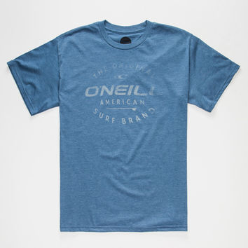 O'neill Drive Thru Mens T-Shirt Heather Blue  In Sizes