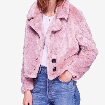 Free People Mena Faux-Fur Coat Juniors - Coats - Macy's