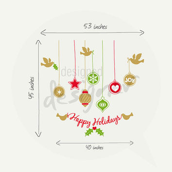 Holiday Wall Decal Wall Sticker Christmas wall decal -word wall decals - dd1064