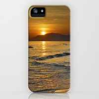 Last sunset of the summer iPhone & iPod Case by Guido Montañés