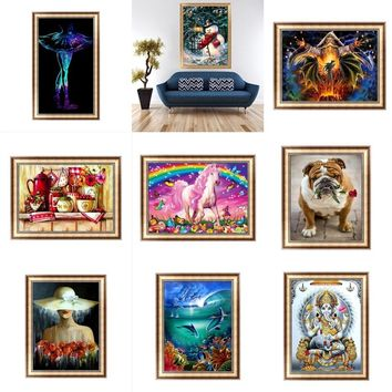 5D Diamond Embroidery Rooster Chick Painting Cross Stitch DIY Craft Home Decor SEA
